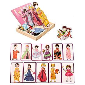 Bộ đồ chơi gỗ ghép hình công chúa dự tiệc