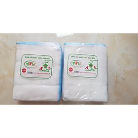 Combo 2 gói khăn xô sữa xuất nhật Mipbi 4 lớp màu xanh