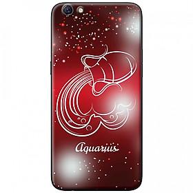 Ốp lưng  dành cho OPPO A71 mẫu Cung hoàng đạo Aquarius (đỏ)