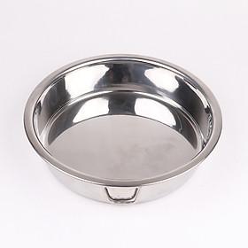Khay tròn đựng thức ăn hoặc làm bánh inox 304 cao cấp KTB01 – Gia dụng bếp