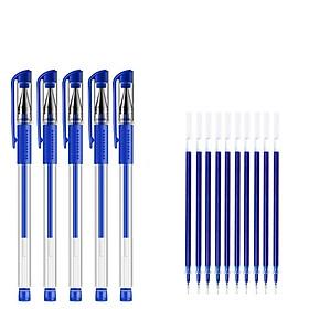 Combo 30 Bút Bi Nước, Bút Viết Học Sinh, Văn Phòng Mực Đều, Nét Chữ Đẹp Ngòi 0.5mm Mực Xanh