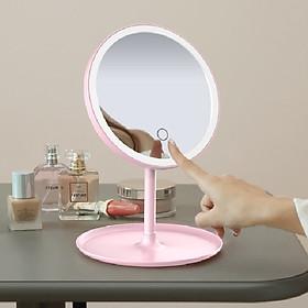 Gương Trang Điểm Tích Hợp Đèn LED MAKEP LIGHT MIRROR 3 Chế Độ sáng -  Hàng Nhập Khẩu