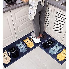 Bộ 2 miếng thảm bếp 3D chống trơn trượt - Kích thước 120x40 và 60x40