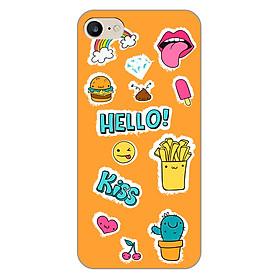 Ốp lưng dẻo cho điện thoại Apple iPhone 7 _0512 HAPPY01 - Hàng Chính Hãng