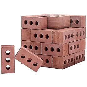 Tailored NEW 24Pcs Mini Cement Cinder Bricks Build Your Own Tiny Wall Mini Red Bricks