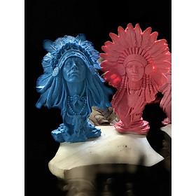 30cm. DECOR NỘI THẤT. Tượng Thổ Dân, Tượng nhựa, tượng decor trang trí thổ dân