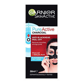 Garnier Skin Active Pure Active Charcoal Anti-Blackhead Peel Off Mask 50ml