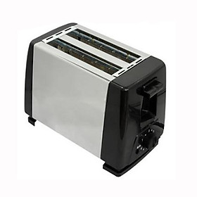 Mini Electric Toaster Stainless Steel 2 Slices Bread Baking Maker for Breakfast