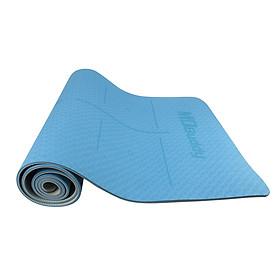 Thảm tập yoga-Thảm yoga cao cấp-thảm tập yoga có vân chống trượt-Thảm tập yoga không mùi chất liệu TPE dày 6mm - 3 màu MD9038