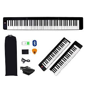 Đàn Piano Điện Gấp Gọn 88 Phím Cảm Ứng Lực Bora BR-01 (Bao Đựng, Loa Kép, Bluetooth KeyBoard, Sustain Pedal BR01) - Kèm Móng Gẩy DreamMaker