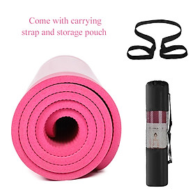 72X24In Non-Slip Yoga Mat Eco-Friendly Fitness Pilates Gymnastics Mat Gift Storage Bag And Carry Sling-2
