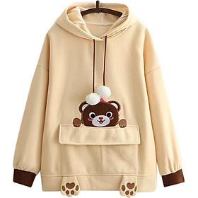 Áo Khoác Hoodie Nữ Gấu Xinh 471 (Freesize)