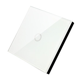 LED Light Switch White Tempered Glass Panel On/Off Automation 1 Way for EWelink