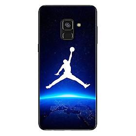 Ốp Lưng Dành Cho Samsung Galaxy A8 2018 - Jordan Nền Xanh Đen