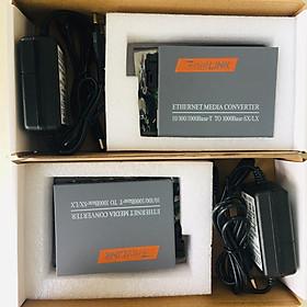 Bộ chuyển đổi quang điện Gigabit 10/100/1000M (1 sợi quang) Converter Netlink HTB-4100A\B ( 2 thiết bị) - Hàng nhập khẩu