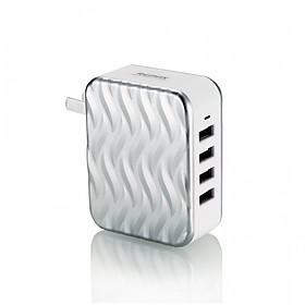Củ  Sạc Điện Thoại REMAX RP-U41  4  Cổng USB + Tặng Kèm  Cáp Sạc IPhone - Hàng Chính Hãng