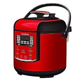 Nồi áp suất đa năng SATO ST-606PC 6.0L (Màu đỏ đen) - Hàng chính hãng
