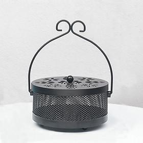 Đế đốt nhang muỗi phong cách Retro – Hộp đựng nhang muỗi chuyên dụng, an toàn, chống cháy