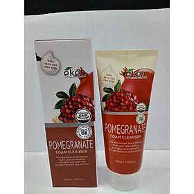 Sữa rửa mặt Lựu - Ekel Foam Cleanser Pomegranate 100ml (Tặng 2 mặt nạ Jant Blanc)