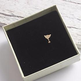 Kẹp vành tai bạc hồ ly tình duyên khuyên tai nữ phong cách Hàn Quốc tặng thẻ Vcone