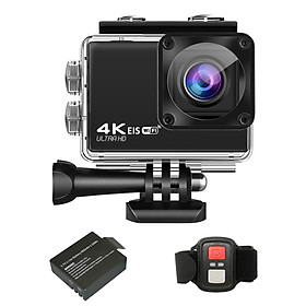 4K/30FPS 24MP Ultra HD Sports Action Camera 2.4G Wireless Remote Control WiFi DV Camcorder with 170 Degree Wide Angle