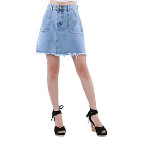 Chân Váy Jeans A Hai Túi VCV01 - Xanh Dương Nhạt