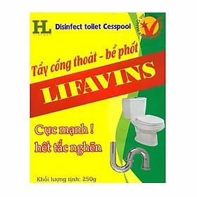 Combo 4 hộp tẩy cống thoát, bể phốt lifavins