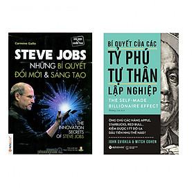 Combo Tỷ Phú Tự Thân Lập Nghiệp Steve Jobs : Bí Quyết Của Các Tỷ Phú Tự Thân Lập Nghiệp + Steve Jobs Những Bí Quyết Đổi Mới Và Sáng Tạo