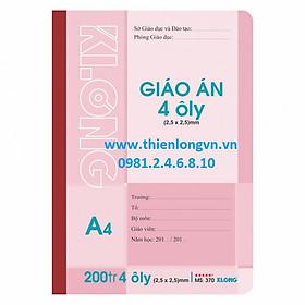 Sổ giáo án may 4 ô ly - 200 trang; Klong 370 bìa hồng
