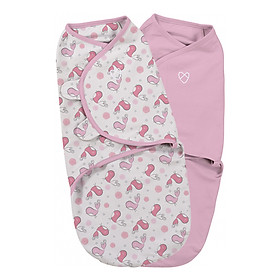 Bộ 2 Chăn Quấn Tweet Tweet Girl Summer Infant - S (Original Swaddle - Tweet Tweet Girl - Small - 2Pk Bag)
