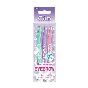Bộ 3 chiếc dao cạo lông mày cao cấp Nhật cho nữ Can Eyebrow