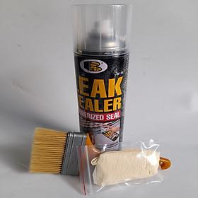 Bình Keo Sơn Xịt Chống Thấm Chống Dột Đa Năng 600ml Leak Sealer kèm chổi quét sơn và bao tay
