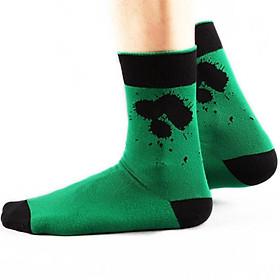 Hình đại diện sản phẩm Heart good men's socks color ink cotton socks comfortable personality fashion socks unique lower stitch combed cotton socks color warm men's socks are code 5 color 5 double 5 color code