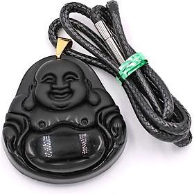 Vòng đeo cổ Phật Di lặc đá thạch anh DEPDL23 - Dây chuyền đá phong thủy - Mang lại may mắn, bình an, sức khỏe