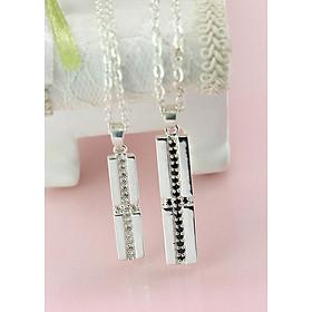 Dây chuyền đôi bạc dây chuyền cặp bạc thánh gái tình yêu DCD0001