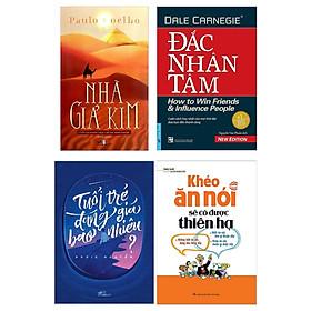 Combo 4 Cuốn Nhà Giả Kim + Khéo Ăn Nói Sẽ Có Được Thiên Hạ + Tuổi Trẻ Đáng Giá Bao Nhiêu  + Đắc Nhân Tâm ( Những Cuốn Sách Hay Nhất Về Tư Duy-Kiến Thức )