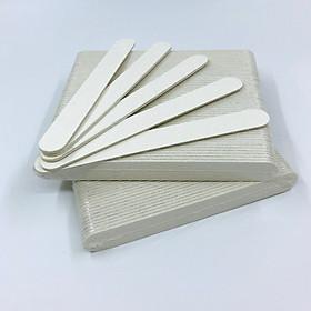 Set 50 cây dũa móng tay mini trắng -  độ nhám 120/120