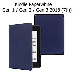 Bao Da Cover Cho Máy Đọc Sách Kindle Paperwhite Gen 1 / Gen 2 / Gen 3 2018 (7th) Vân Da