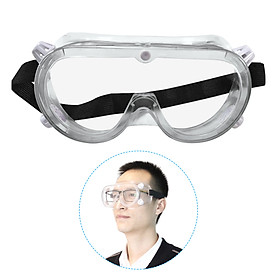 Safety Goggles Clear Lens Protective Eyewear Glasses with Adjustable Band Anti-Fog Anti-Dust Chemical Splash Impact