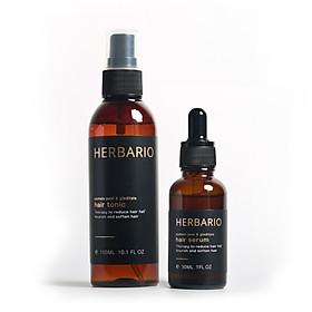 Combo nước dưỡng tóc vỏ bưởi & Bồ kết 100ml + Serum tinh chất mọc tóc vỏ bưởi & Bồ kết 30ml kích thích mọc tóc nhanh, giảm rụng tóc Giúp mọc tóc dày và đen