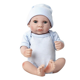Doll Baby Blue Silicone Early Education Bathing