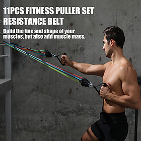 11pcs Fitness Puller Set Resistance Belt Kit Multifunctional Exercise Elastics Tubes for Training Gym Bodybuilding Sport-1