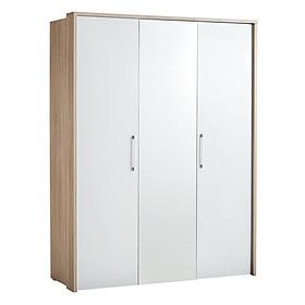 Tủ quần áo JYSK Hou/Hestra gỗ công nghiệp trắng/sồi R156xC205xS60cm