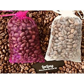 Combo 2 túi thơm cà phê khử mùi, treo xe hơi (130gram x2 - chọn lựa 3 loại túi)