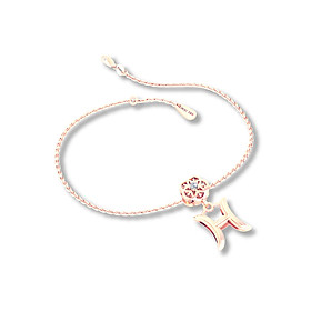 Mặt charm cung hoàng đạo Song Ngư vàng hồng 14K DOJI 0120P-LAL362-PG (không bao gồm dây)