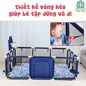 Quây Cũi Kiêm Nhà Bóng Khung Inox Cho Bé - Quây Bóng Cho Bé Hình Chữ Nhật -  Hình vuông Có Ném Bóng Rổ  - Hàng Chính hãng.