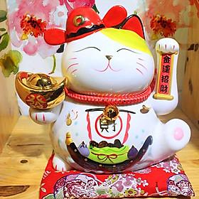 Mèo thần tài may mắn vẫy tay lộc tiến vinh hoa (24cm)