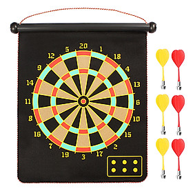 Magnetic Dart Board Darts  Double Sided Rollup Flocking Dartboards Darts Plate of Safety Dart Safety Game Board