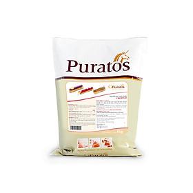 Bột nhân kem su Cremyvit cao cấp 1kg -Puratos Grand-Place-4116100. Có thể làm nhân kem su, nhân bánh, láng bánh, thay thế bột sữa trong công thức bánh mì…Tiết kiệm thời gian, chỉ cần pha với nước, sữa tươi lạnh là dùng ngay.