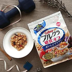 Ngũ cốc trái cây ăn liền Calbee (gói trắng) 600gr - Loại ít đường - Nhập khẩu Nhật Bản